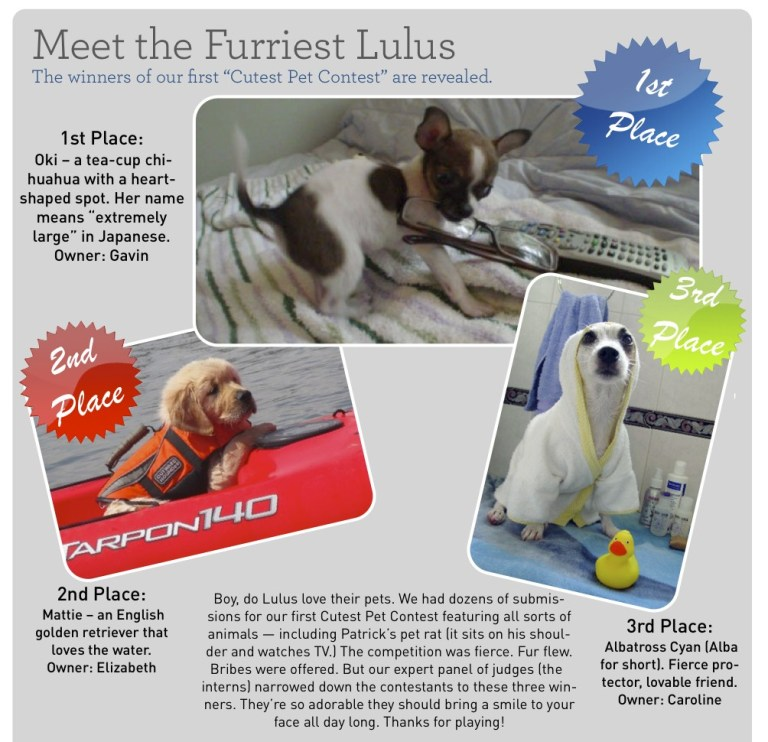 Meet the Furriest Lulus