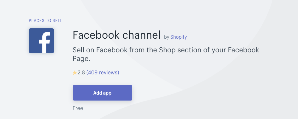 Shopify Facebook App connects your Shopify store to Facebook to sell books