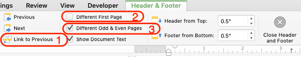 Controlling your Header and Footer