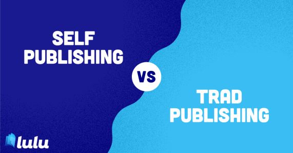 Self-Publishing vs. Traditional Publishing Blog Graphic Header
