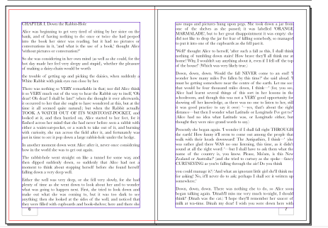 Pages showing imported and unstyled content, copied in from a Microsoft Word import to Scribus