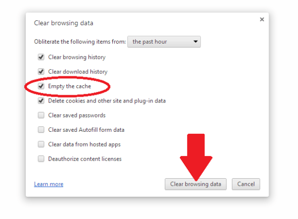 How to clear browsing data, cookies, and cache