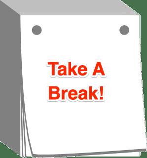 Day calendar image with 'take a break' written on it