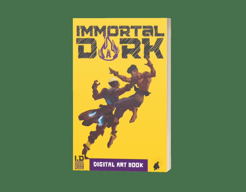 Immortal Dark Art Book - 3D Book Cover