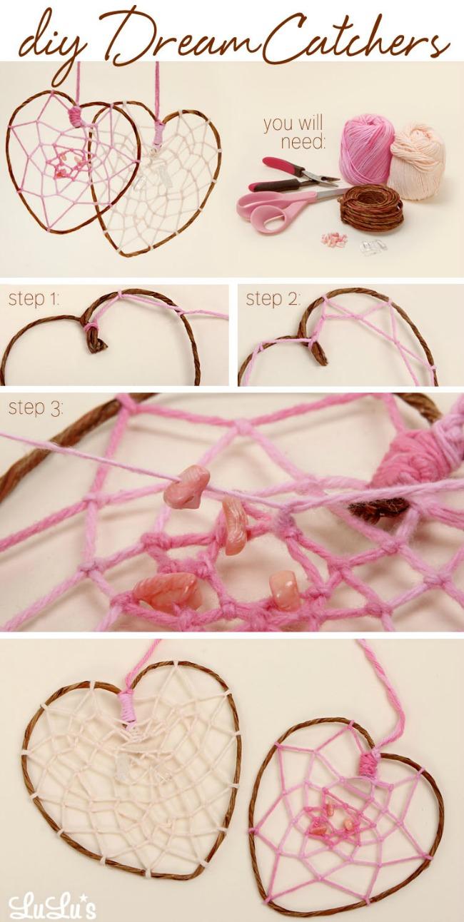 DIY: How To Make a Heart-Shaped Dreamcatcher! at LuLus.com!