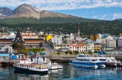 Ushuaia Harbor in Tierra Del Fuego