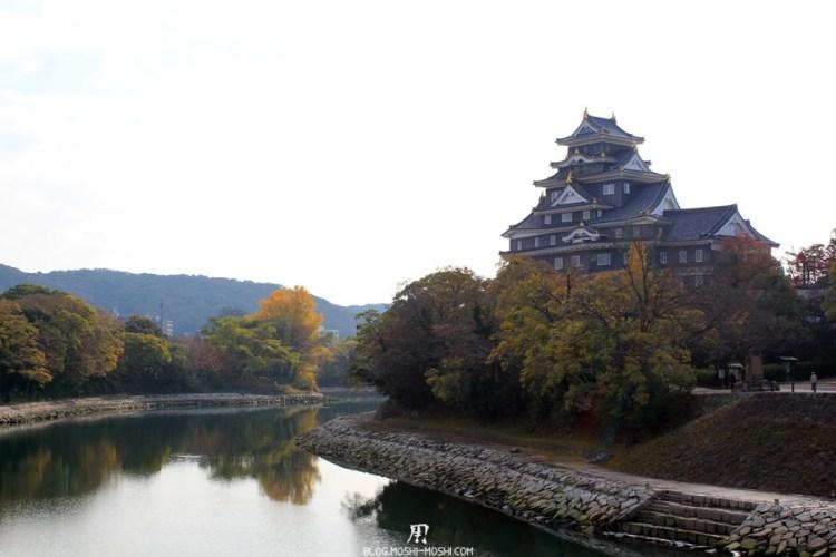 château d'Okayama corbeau-saison-momiji-en-hauteur-douve