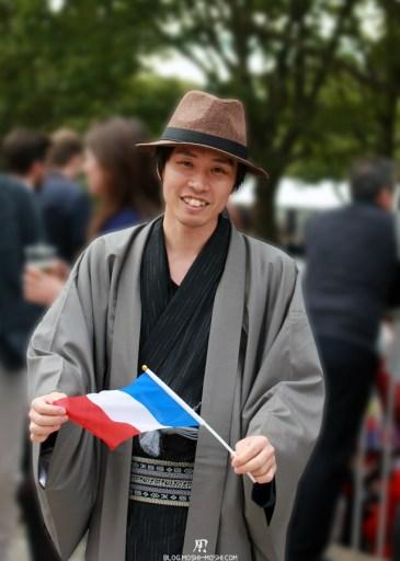 2014年凱旋門賞 spectateurs-japonais-kimono