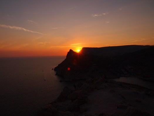 sunset in balaklava