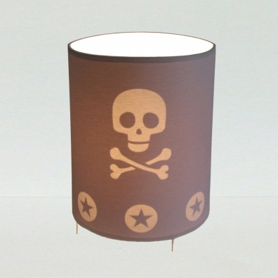 Lampe de Chevet Enfant Pirate grise