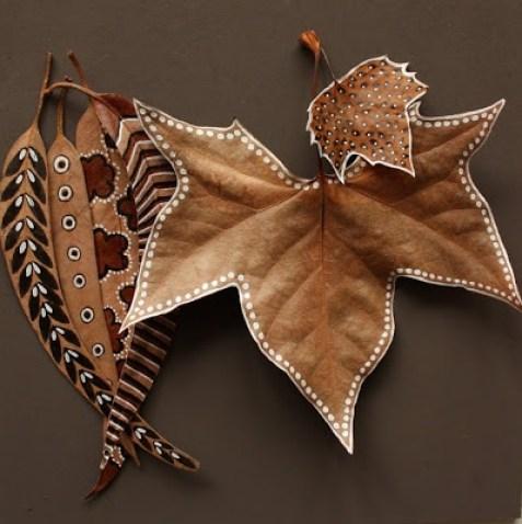 feuilles d'automne peintes5