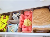 Changing table with South Shore drawer organizers