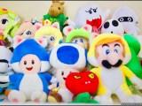 Super Mario 3-D World plushes