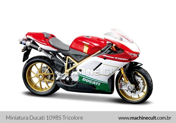 Miniatura Ducati Desmosedici RR com faixa Branca