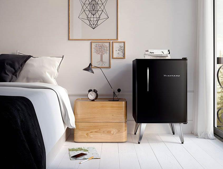 exemplo de uso do frigobar retrô Brastemp
