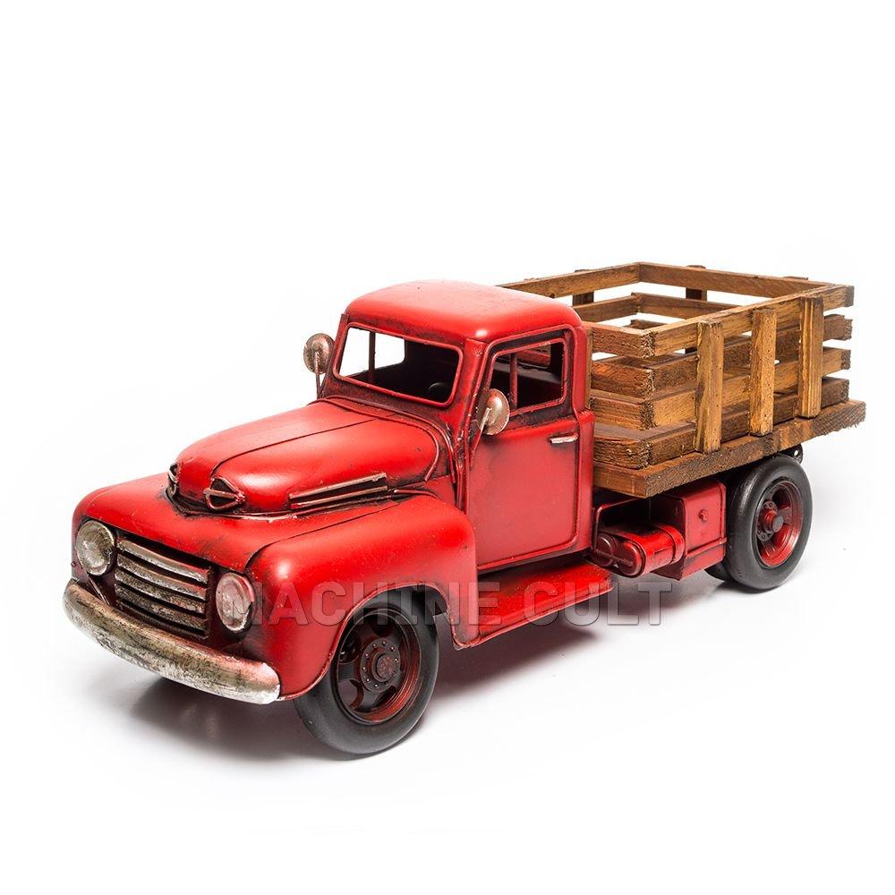 Miniatura Vintage Caminhão com carroceria em madeira