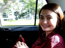 Mitz in Cab