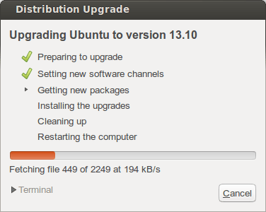 Upgrading to Ubuntu 13.10