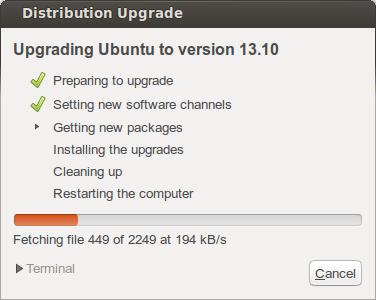 Upgrading to Ubuntu 13.10