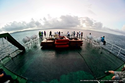 Sunrise in M/V Grand Star RORO 3
