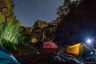 Aw-asen Falls at Night