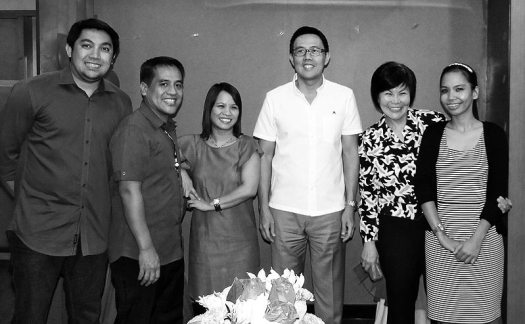 From left to right: Mr. Macoy Mejia, Mr. Abet Olivar, Ms. Michelle Chan, Mr. Kenneth S. Yang, Ms. George Cuadra, and Ms. Jenn Cornelio