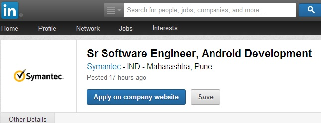 Job Post in Linkedin