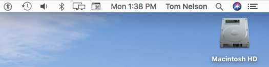 Basic Mac menu bar.