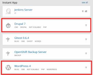 Openshift CMS support