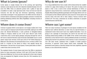 Multi-column content