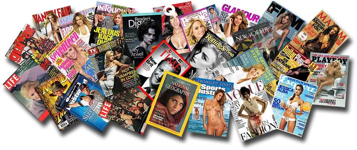 pleins de magazines