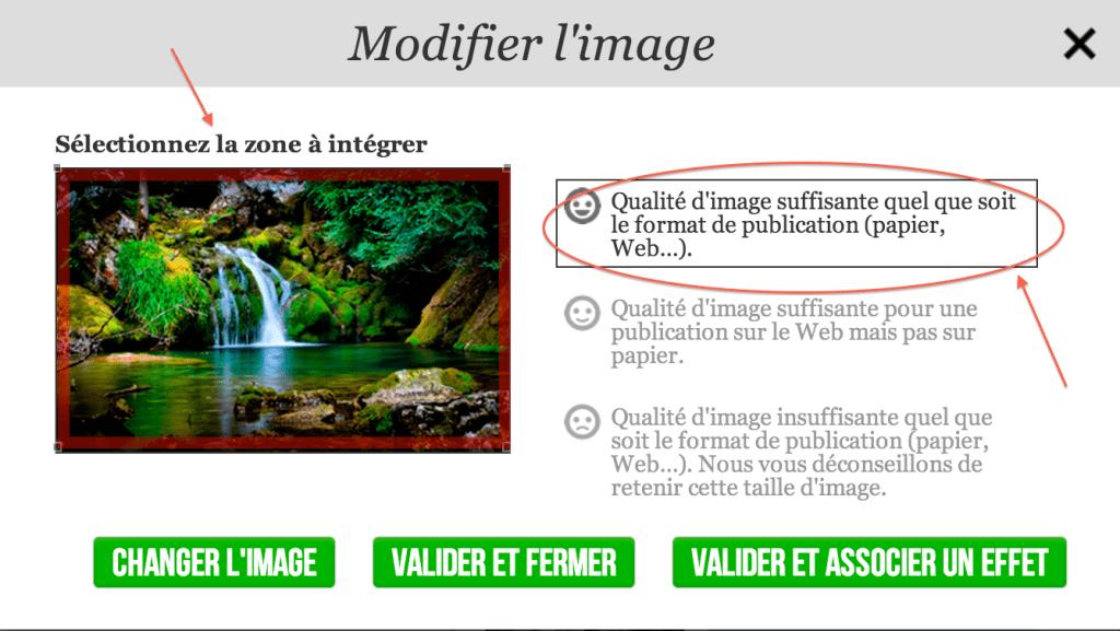 screenshot gestion d'image