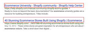 page title in Shopify stores