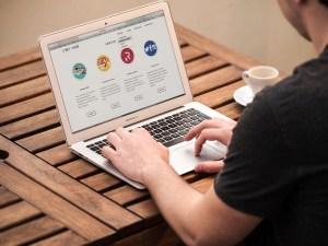 designer working at laptop