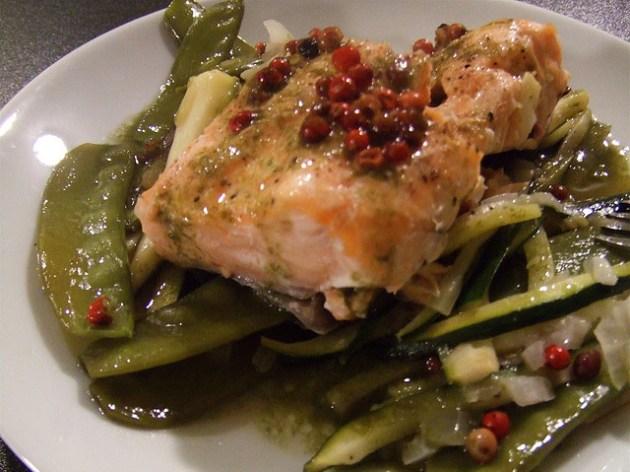 Recette-Minceur-I Love My Diet Coach-Papillote-Saumon-Legumes
