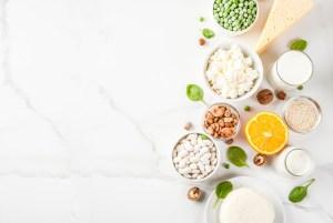 Aliments contenant du calcium animal et végétal