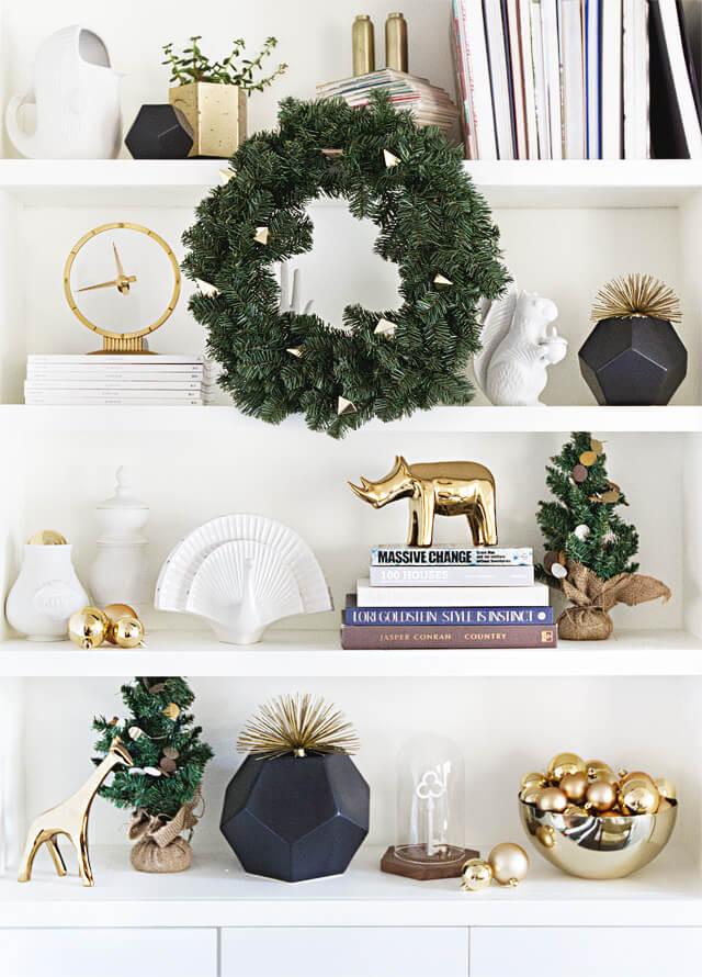 Utiliser une couronne de Noel en déco