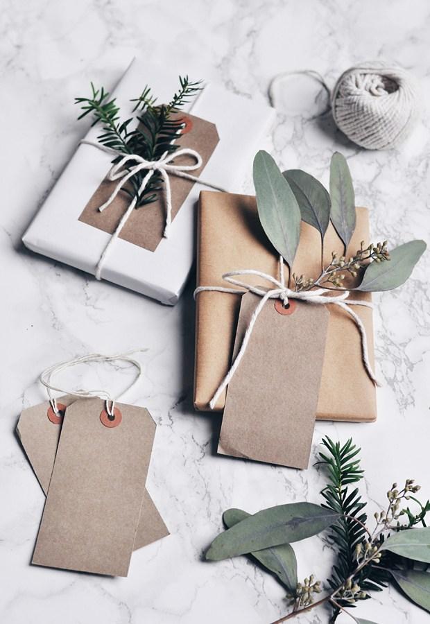 4 idées pour fabriquer un emballage cadeau en kraft