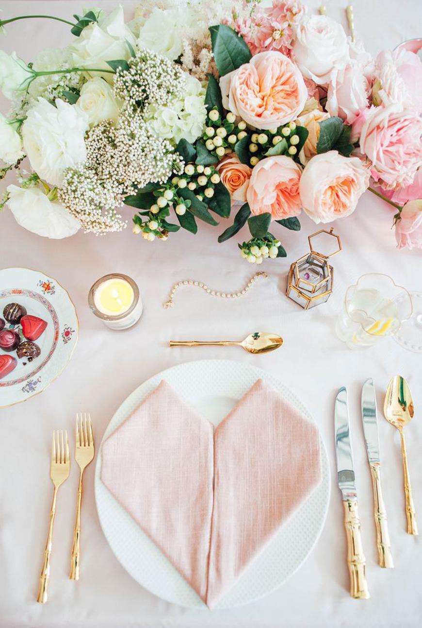 Une déco de table originale pour la saint Valentin
