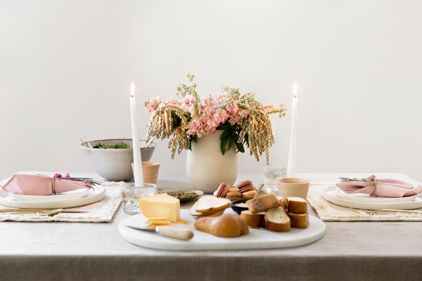 Une adorable table pour amoureux