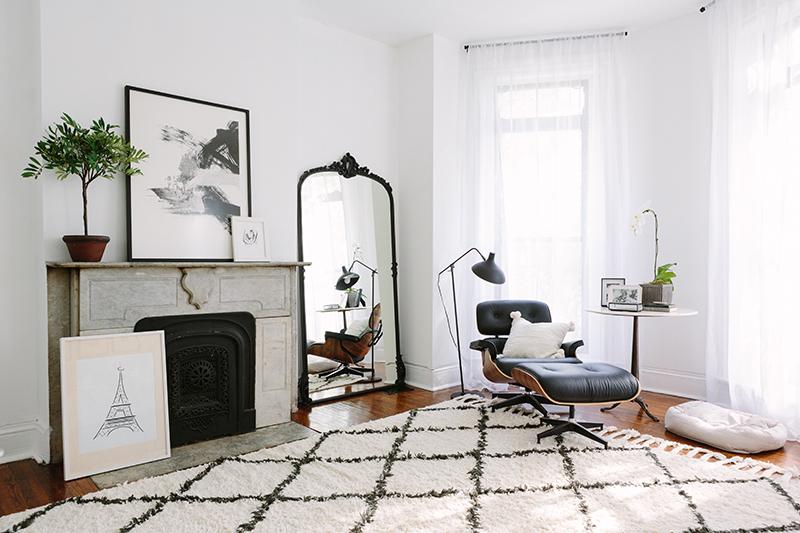 Inspiration déco avec ce salon d'un appartement parisien