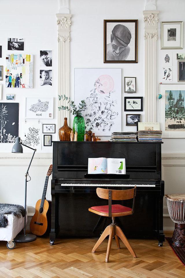 Idée déco pour un piano dans son salon