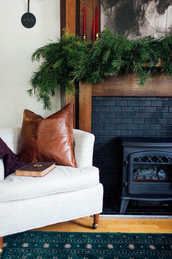 Comment décorer une cheminée pour Noel