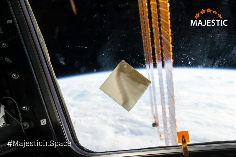 3D printed visualization of the Internet in space