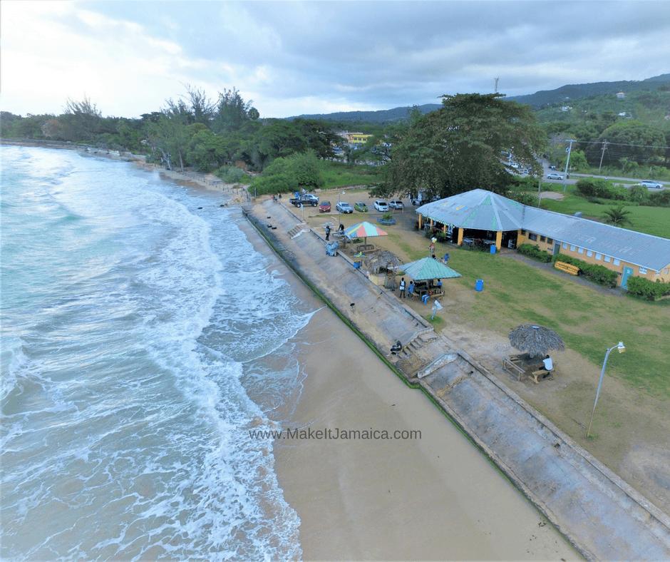 Beaches in Jamaica - Flavors Beach aerial view