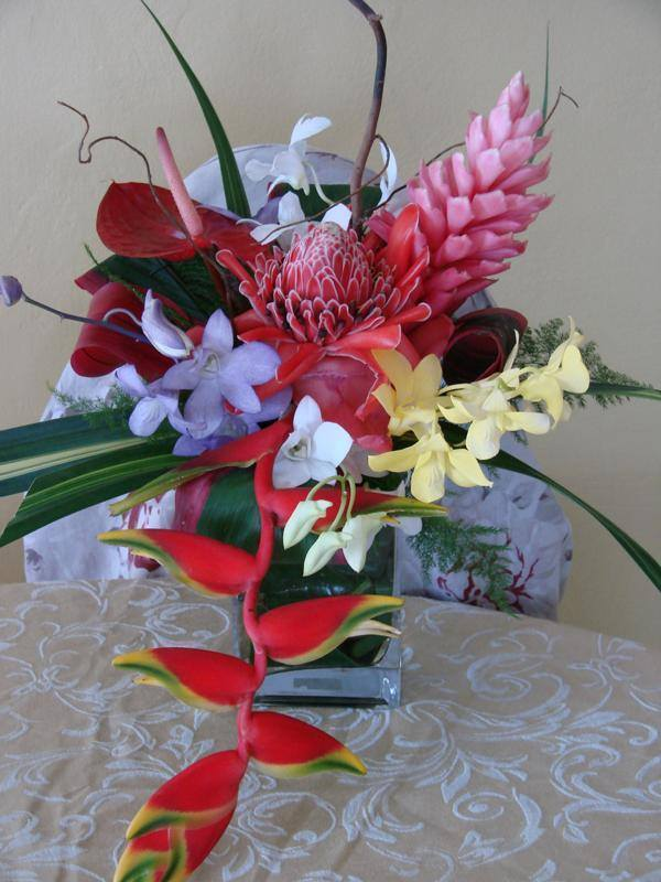 Wedding in Jamaica cost: Wedding flowers - Photo courtesy of Thelma Gray Wedding Planner