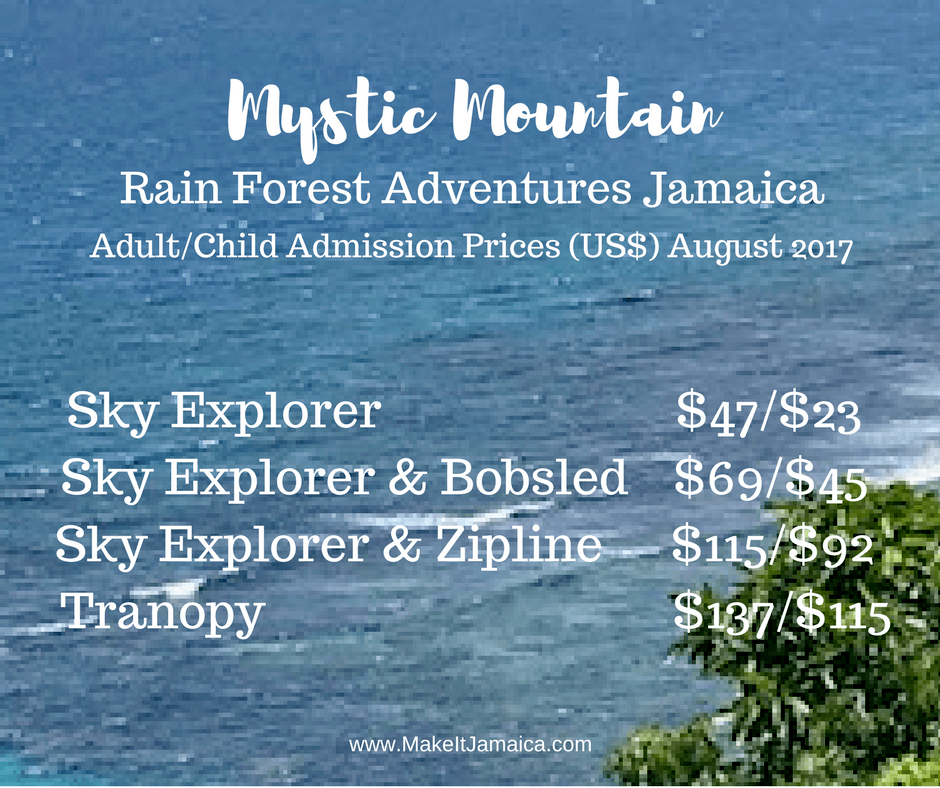 Mystic Mountain Jamaica Admission Prices