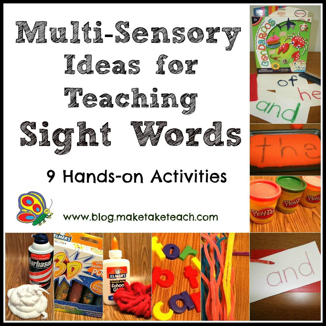 Multi Sensory Ideas For Teaching Sight Words
