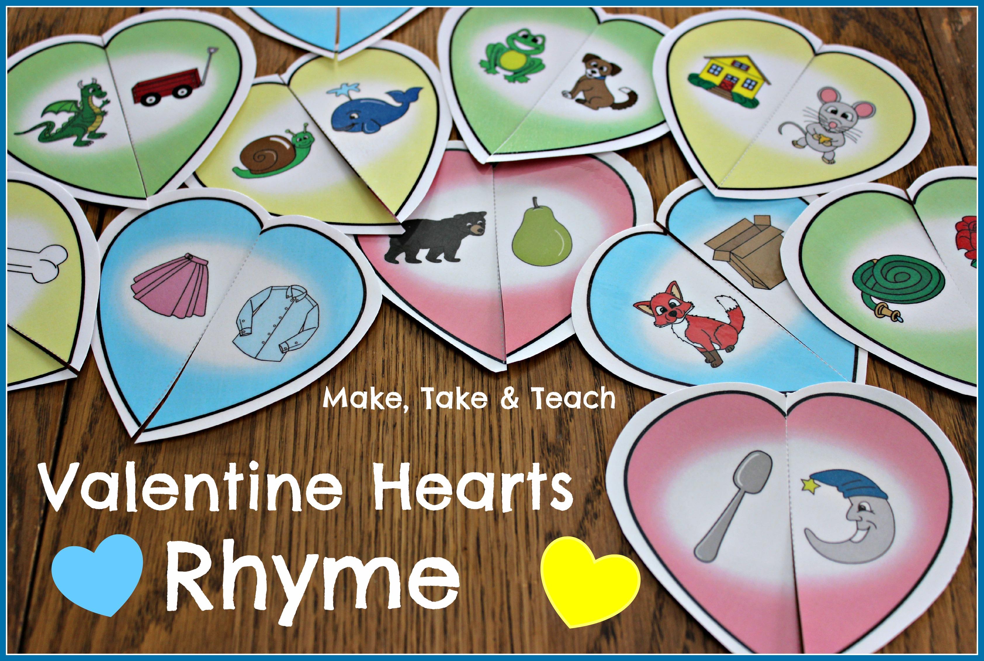 Valentine Rhyming Activity