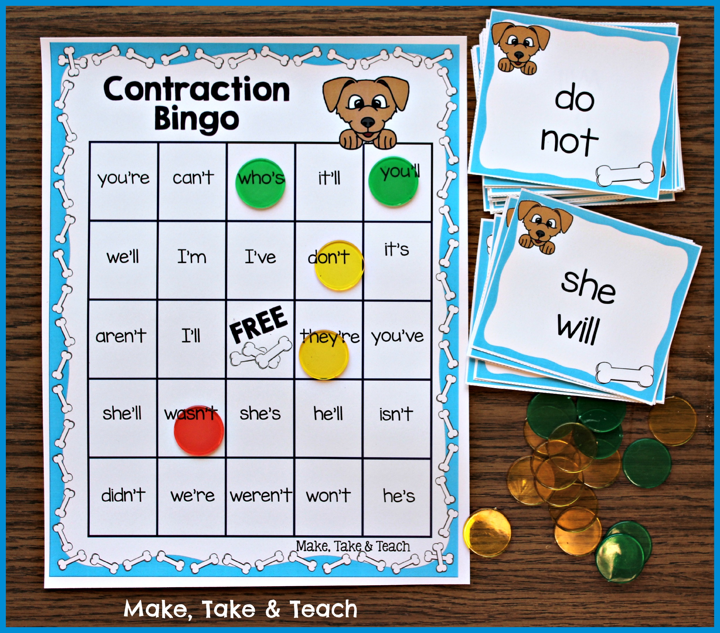 Fun Little Activity For Learning Contractions